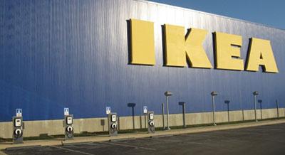 EV charging stations at IKEA Bolingbrook IL