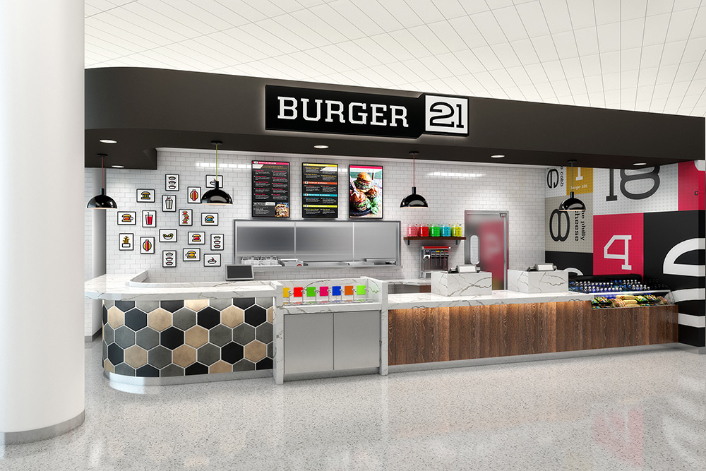 Burger 21 airport