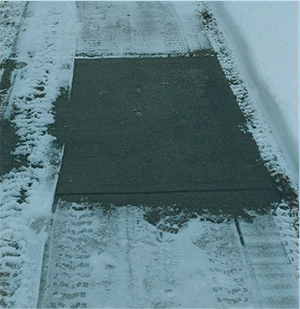 Entry sidewalkaccumulation after1