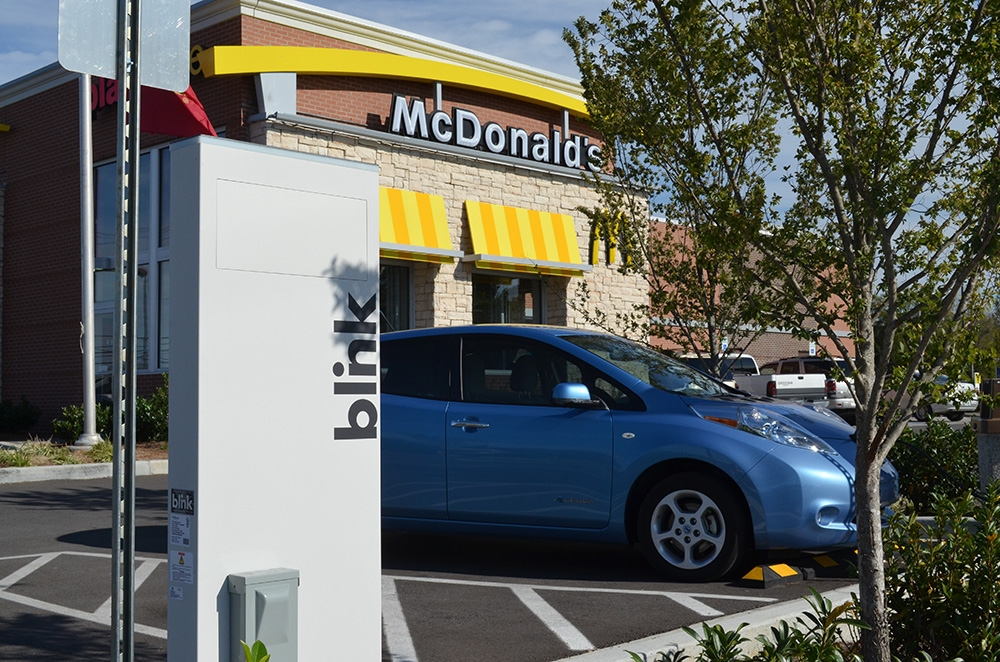 Blink Charging Stations >> 16 Mcdonald S Upgrade 41 Blink Ev Charging Stations
