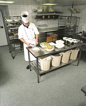 foods prepping areaway floors