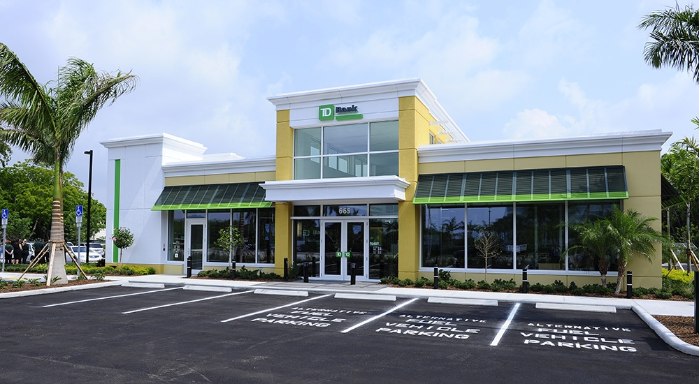 TD Bank's LEED-Certified Stores in the U S  Expand to 200