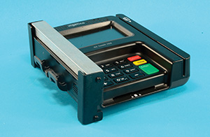 Credit Card Machine with Anti Skimmerware with caption