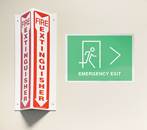 Avery exit sign
